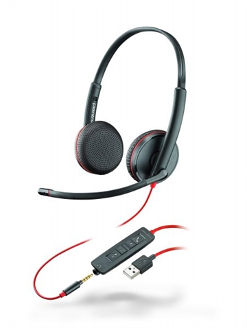 Headset Plantronics Blackwire 3225 USB-A/3mm Jack Duo/Stereo
