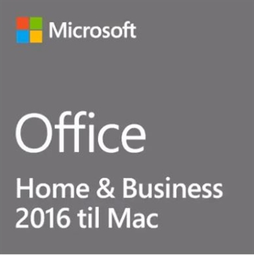MS Office Mac 2016 Home & Business ESD-Licens 32/64-bit (DK)